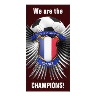 Campeones del fútbol de Francia Tarjeta Fotografica