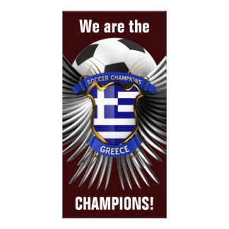 Campeones del fútbol de Grecia Tarjetas Fotográficas Personalizadas