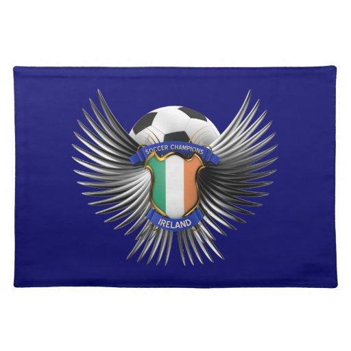 Campeones del fútbol de Irlanda Mantel Individual
