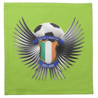 Campeones del fútbol de Irlanda Servilletas Imprimidas