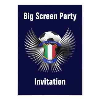 Campeones del fútbol de Italia Invitación 12,7 X 17,8 Cm