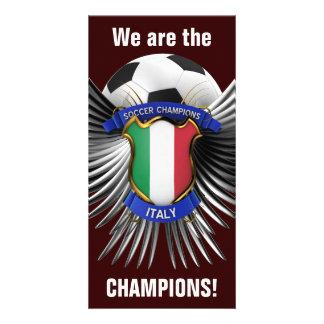 Campeones del fútbol de Italia Tarjeta Fotografica Personalizada