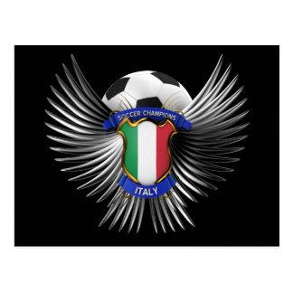 Campeones del fútbol de Italia Tarjeta Postal
