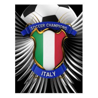 Campeones del fútbol de Italia Tarjetas Postales