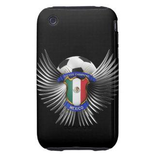 Campeones del fútbol de México Tough iPhone 3 Protectores