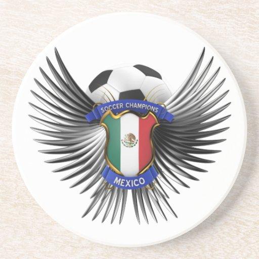 Campeones del fútbol de México Posavasos Para Bebidas