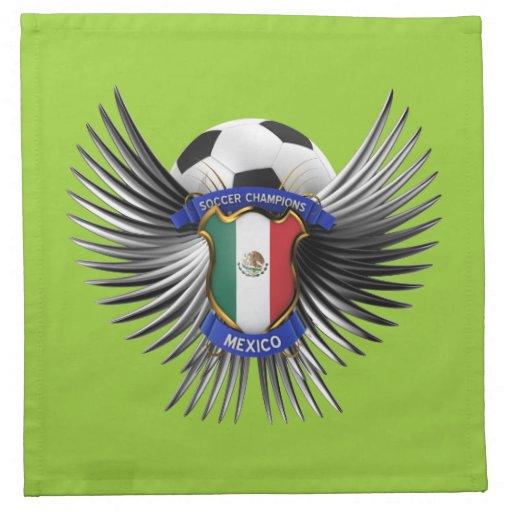 Campeones del fútbol de México Servilleta De Papel