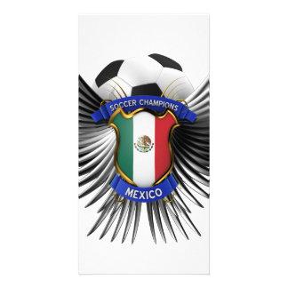 Campeones del fútbol de México Tarjetas Fotográficas Personalizadas