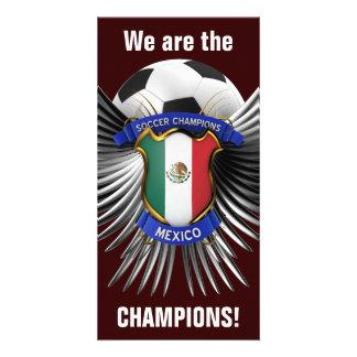 Campeones del fútbol de México Tarjetas Fotograficas