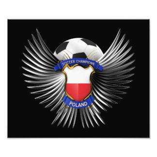 Campeones del fútbol de Polonia Impresiones Fotograficas