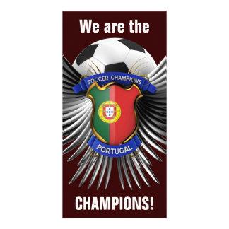 Campeones del fútbol de Portugal Tarjeta Fotográfica Personalizada