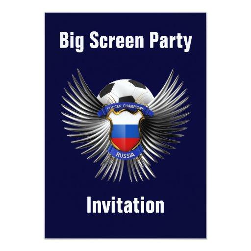 Campeones del fútbol de Rusia Invitación 12,7 X 17,8 Cm