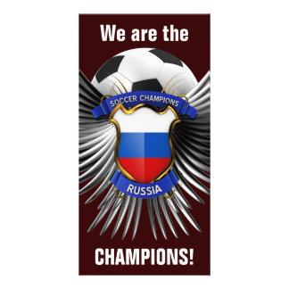 Campeones del fútbol de Rusia Tarjeta Fotográfica Personalizada