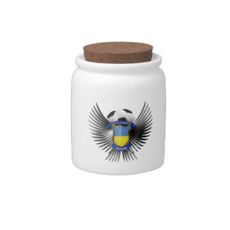 Campeones del fútbol de Ucrania Jarras Para Caramelos