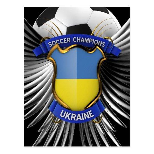 Campeones del fútbol de Ucrania Postal