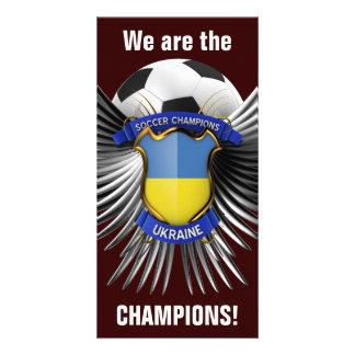 Campeones del fútbol de Ucrania Tarjetas Fotográficas Personalizadas