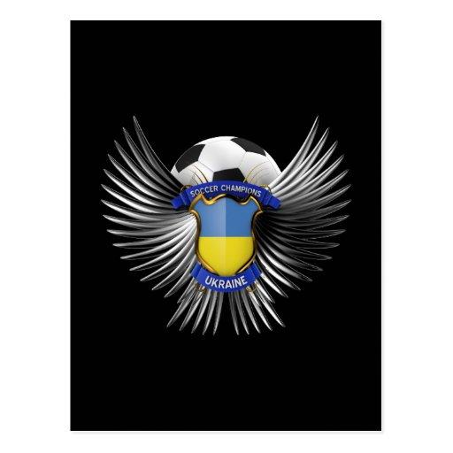 Campeones del fútbol de Ucrania Tarjeta Postal