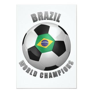 """CAMPEONES DEL FÚTBOL DEL BRASIL INVITACIÓN 5"""" X 7"""""""