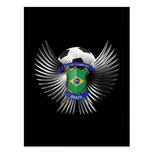 Campeones del fútbol del Brasil Tarjeta Postal