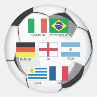 Campeones del mundial pegatina redonda