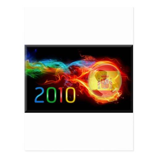 Campeones del mundo 2010 de España Tarjetas Postales