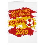 Campeones del Mundo 2010 Greeting Card