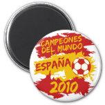 Campeones del Mundo 2010 Imán Redondo 5 Cm