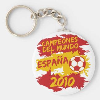 Campeones del Mundo 2010 Llavero Redondo Tipo Pin