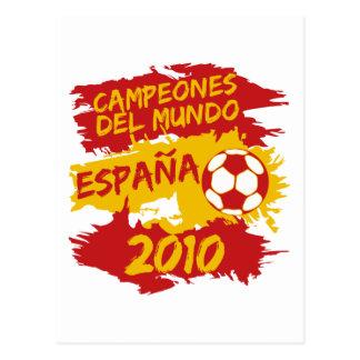 Campeones del Mundo 2010 Postcard