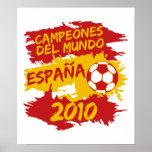 Campeones del Mundo 2010 Posters