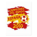 Campeones del Mundo 2010 Tarjeta Postal