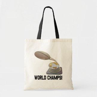 Campeones del mundo bolsas lienzo