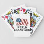 Campeones del mundo de la bandera americana barajas