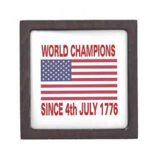 Campeones del mundo desde 1776 caja de joyas de calidad