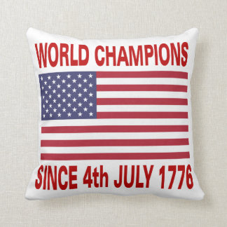 Campeones del mundo desde 1776 cojín