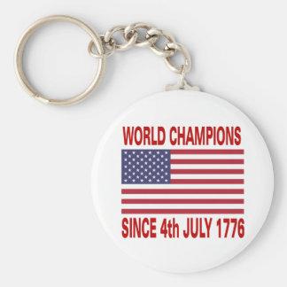 Campeones del mundo desde 1776 llavero personalizado
