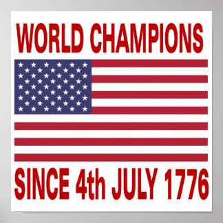 Campeones del mundo desde 1776 póster