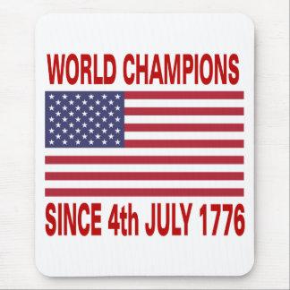 Campeones del mundo desde 1776 tapetes de raton