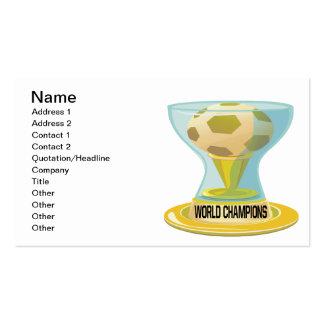 Campeones del mundo tarjetas de visita