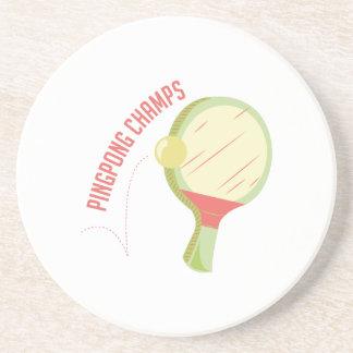Campeones del ping-pong posavasos diseño