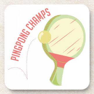 Campeones del ping-pong posavasos de bebidas