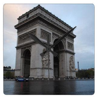Campeones-Élysées - París, Francia Reloj Cuadrado