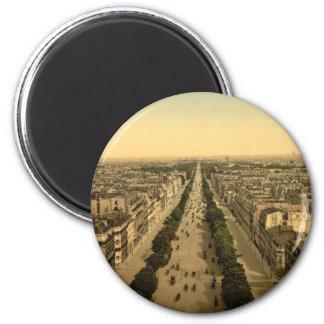 Campeones Elysees, una avenida, París, Francia Imán Redondo 5 Cm