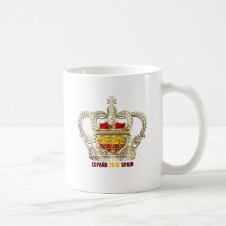 Campeones españoles 2010 de los reyes mundo del fú taza de café