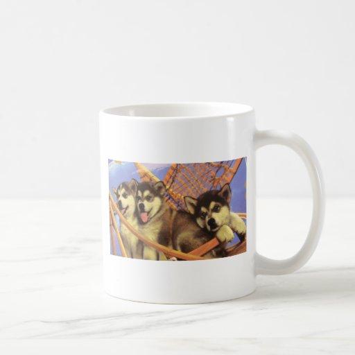 Campeones futuros del perro de trineo taza de café