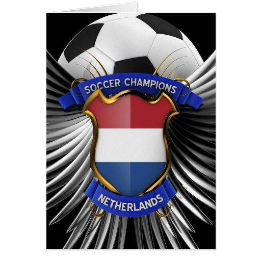 Campeones holandeses del fútbol tarjeta de felicitación