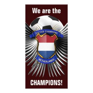 Campeones holandeses del fútbol tarjeta personal