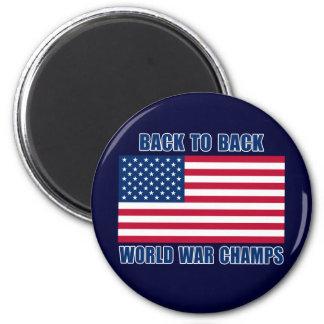 Campeones indiscutibles de la guerra mundial con l iman de frigorífico