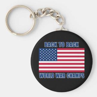 Campeones indiscutibles de la guerra mundial con l llaveros