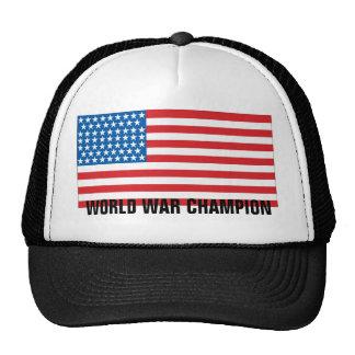 Campeones indiscutibles de la guerra mundial gorras de camionero
